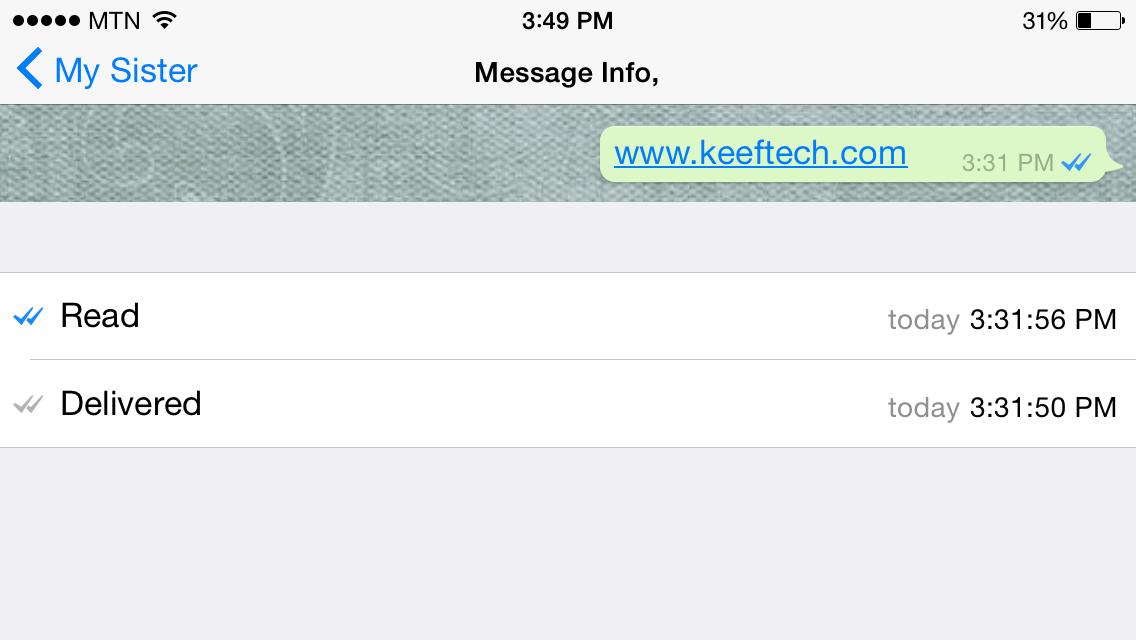 طريقة العرض على نسخة iOS